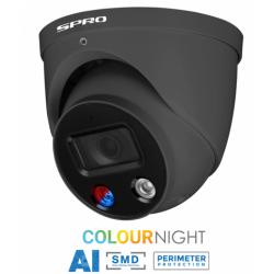 SPRO FULL Night Color, 1x 8 MP Camera met mircofoon, 1 x 4 kanaals Recorder NVR, camera systeem inclusief installatie