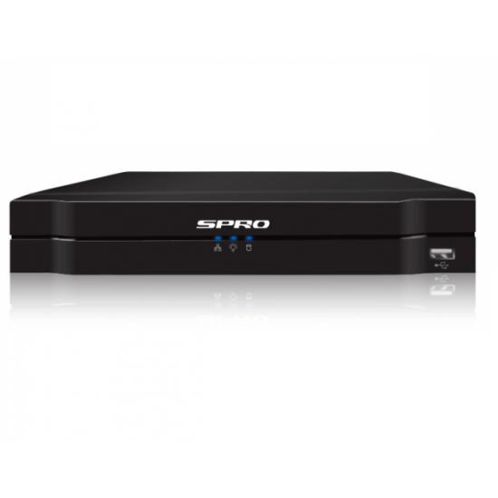 SPRO FULL Night Color, 4x 4 MP Camera met mircofoon, 1 x 4 kanaals Recorder NVR, camera systeem inclusief installatie