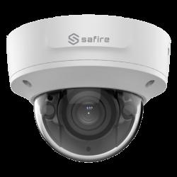 Safire, 4MP Camera met een 2.8~12 mm Varifocal lens, ingebouwd mircofoon, IR bereik van 40 meter, SF-IPD825ZWA-4P-HV