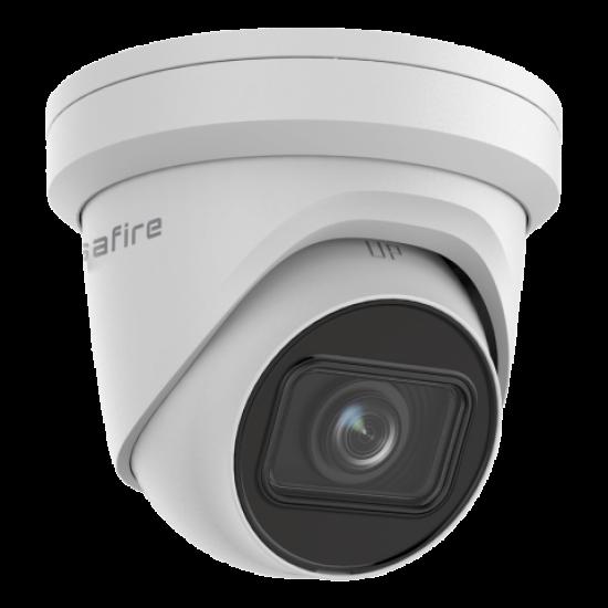 Safire, 4MP Camera met een 2,8 ~ 12 mm gemotoriseerde autofocus / WDR-lens, ingebouwd mircofoon, IR bereik van 40 meter, SF-IPD825ZUWH-4U-AI2